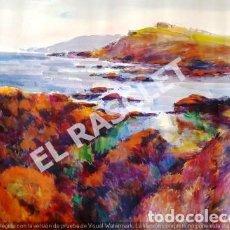 Arte: PINTURA ACUARELA - GRANDE - DE - LLANÇA - JOSEP MARFA GUARRO - DE - BARCELONA - AÑO 1980 -. Lote 253989685