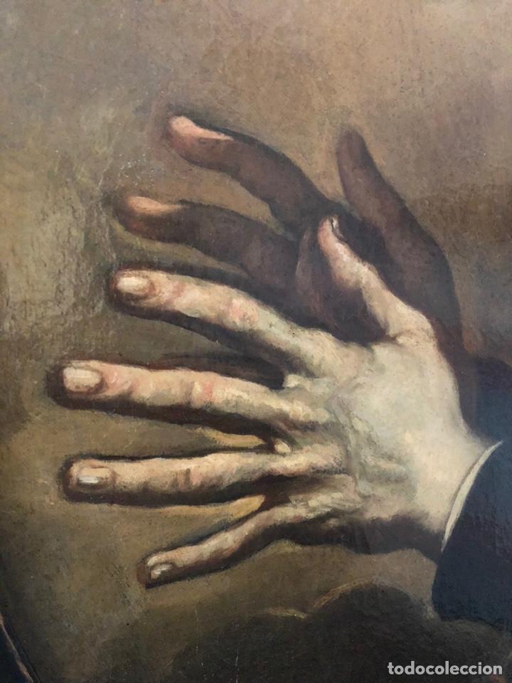 Arte: Impresionante óleo barroco italiano del siglo XVII representando a San Felipe Neri - Foto 6 - 74376398