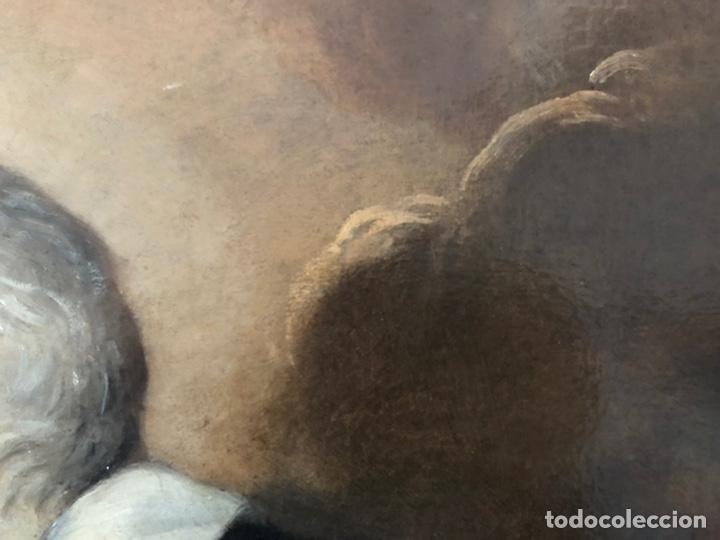 Arte: Impresionante óleo barroco italiano del siglo XVII representando a San Felipe Neri - Foto 10 - 74376398