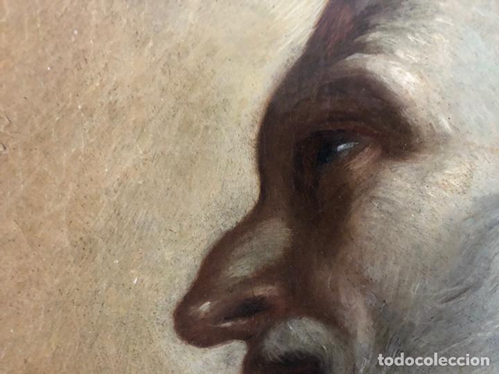 Arte: Impresionante óleo barroco italiano del siglo XVII representando a San Felipe Neri - Foto 11 - 74376398
