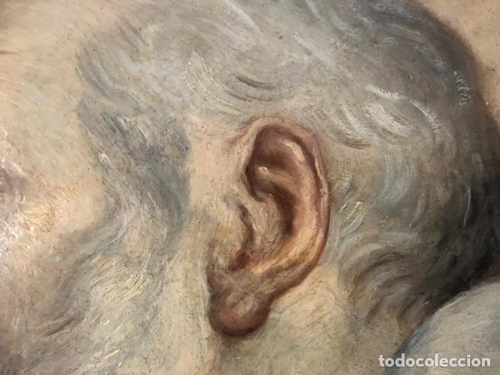 Arte: Impresionante óleo barroco italiano del siglo XVII representando a San Felipe Neri - Foto 12 - 74376398