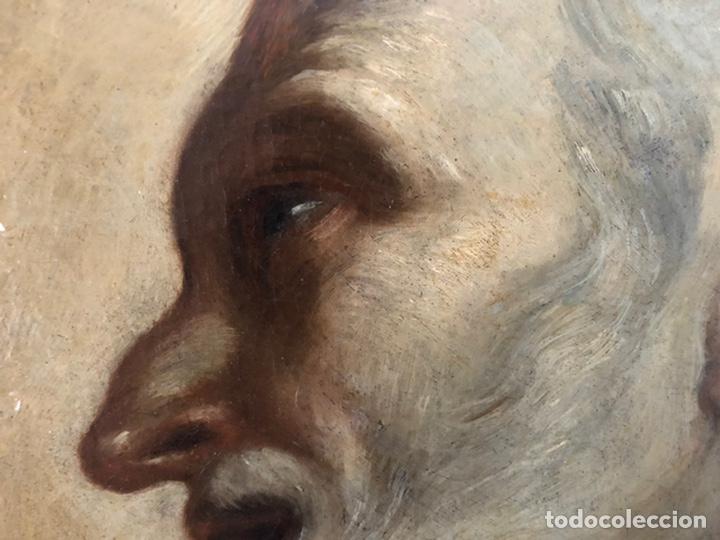 Arte: Impresionante óleo barroco italiano del siglo XVII representando a San Felipe Neri - Foto 13 - 74376398