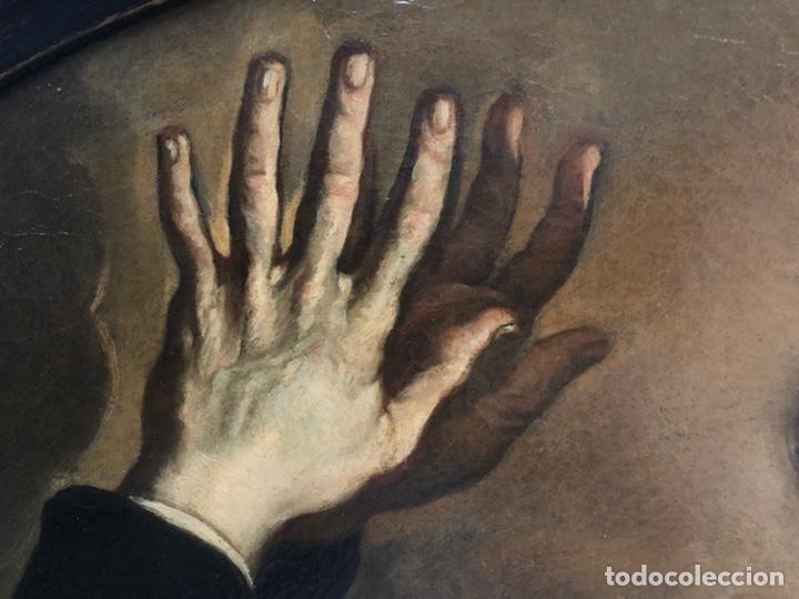 Arte: Impresionante óleo barroco italiano del siglo XVII representando a San Felipe Neri - Foto 16 - 74376398