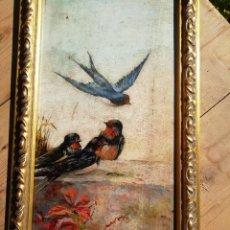 Arte: ÓLEO SOBRE TABLA FRIMADO Y FECHADO REVILLA 1890. Lote 254079905
