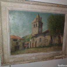 Arte: ANTIGUO CUADRO AL OLEO CON MARCO DE CALIDAD (ALGO ESTROPEADO) COMPRADO EN FRANCIA. Lote 254092880