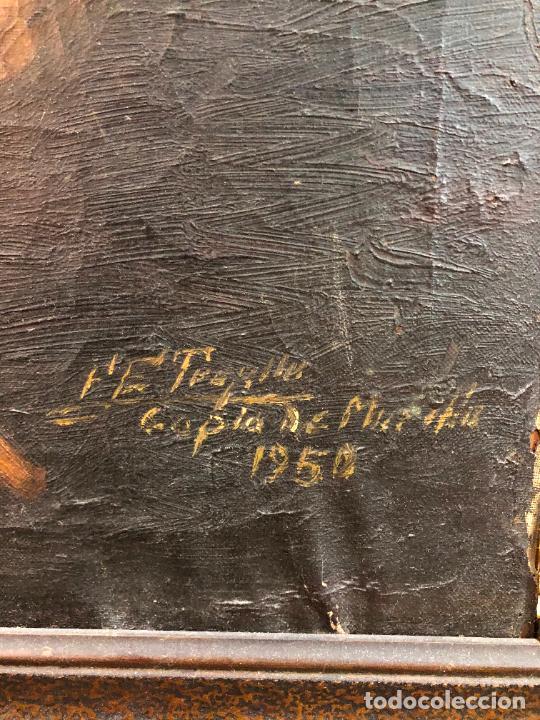 Arte: OLEO SOBRE LIENZO SAN JUANITO COPIA DE MURILLO FIRMADO EN EL AÑO 1950 - MEDIDA MARCO 115X90 CM - Foto 8 - 254215570