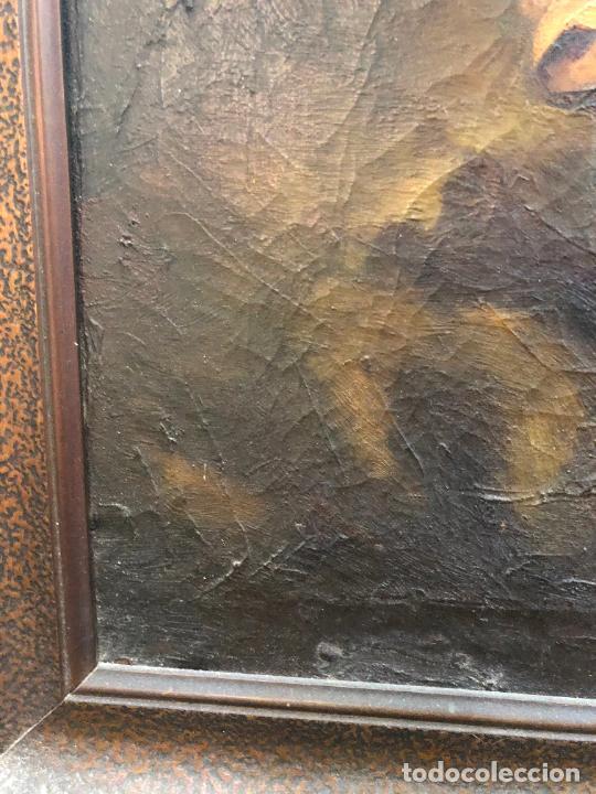 Arte: OLEO SOBRE LIENZO SAN JUANITO COPIA DE MURILLO FIRMADO EN EL AÑO 1950 - MEDIDA MARCO 115X90 CM - Foto 10 - 254215570