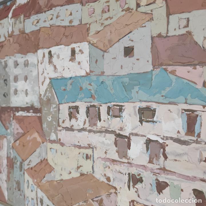 Arte: Bonito paisaje de colorido pueblo. Oleo a espátula. Firmado. Armesto. Siglo XIX-XX. - Foto 4 - 254433720