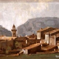 Arte: CARLOS PUNTÍS (MALLORCA, 1912 - 2001) OLEO SOBRE TELA. VALLDEMOSA. 60 X 100 CM.. Lote 254533985