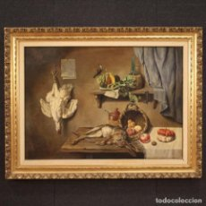 Arte: PINTURA ITALIANA DE BODEGÓN CON CAZA, FRUTAS Y VERDURAS. Lote 254534305