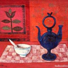 Arte: JESUS PORTAS MAS (GIRONA, 1917-1991) OLEO SOBRE TELA TITULADO JERRO BLAU. AÑO 1978. Lote 254546150
