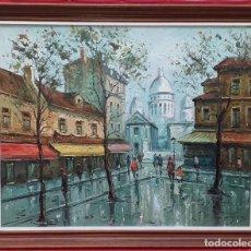 Arte: ÓLEO SOBRE LIENZO OBACH CARNÉ -MONTMARTRE - PARIS. Lote 254548065