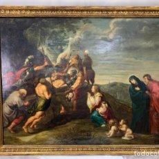 Arte: ESPECTACULAR ÓLEO SOBRE COBRE SIGLO XVII- ESCUELA FLAMENCA - MARCO 96 X 79 CM-COBRE 88 X 71 CM. Lote 254556765