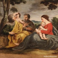 Arte: ANTIGUA SAGRADA FAMILIA DE LA PRIMERA MITAD DEL SIGLO XVIII. Lote 254561365