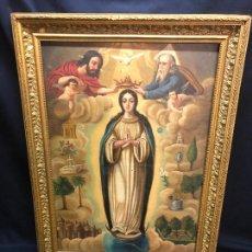 Arte: COPIA DE LA INMACULADA CONCEPCION DE JUAN DE JUANES, OLEO SOBRE LIENZO S.XVIII. Lote 254578420