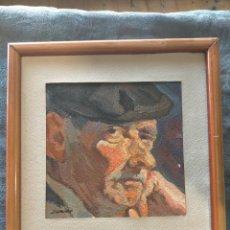 Arte: ANTIGUO CUADRO AL OLEO POR J.CAMACHO 1979 PORTADA DEL CATALOGO CRITICA SANTOS TORROELLA. Lote 254627040