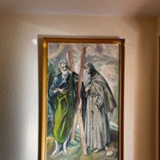 Arte: OLEO COPIA DEL GRECO SAN ANDRÉS Y SAN FRANCISCO. Lote 254650850