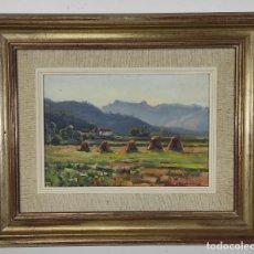Arte: JOSEP OLIVET LEGARES (OLOT 1887- BARCELONA 1956) - ÓLEO SOBRE TABLEX - PAISAJE - ESCUELA DE OLOT. Lote 254700990