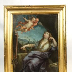 Arte: CÍRCULO DE GUIDO RENI (1575-1642) EXCELENTE PINTURA ÓLEO SOBRE COBRE MARIA MAGDALENA SG XVII. Lote 254830640