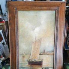 Arte: ÓLEO SOBRE LIENZO(MARINA). ENRIQUE FLORIDO. 1898. Lote 254906680