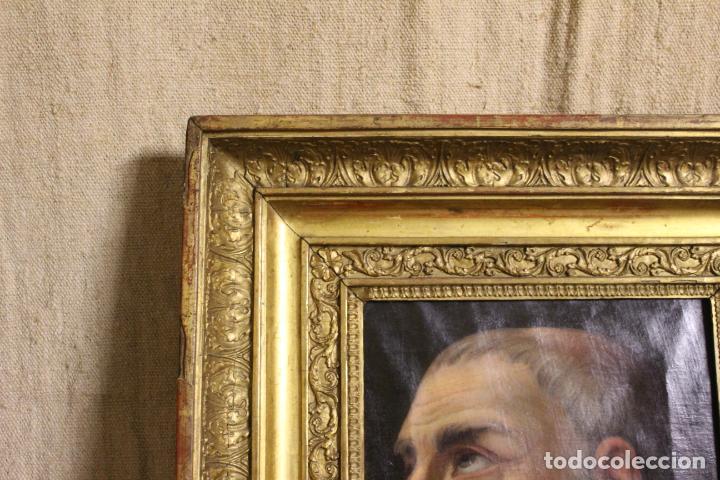 Arte: oleo sobre lienzo franciscano - Foto 5 - 254922525