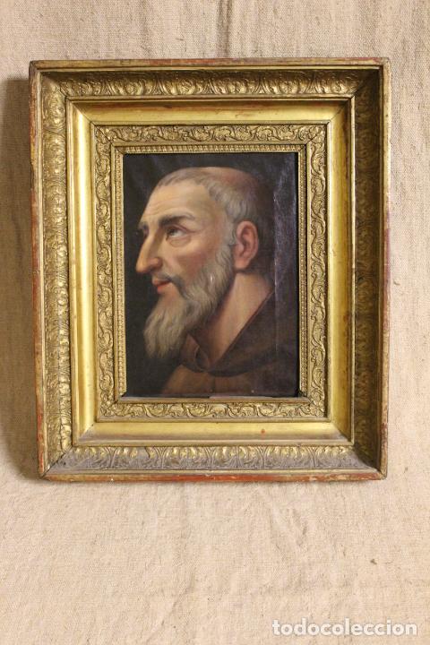 OLEO SOBRE LIENZO FRANCISCANO (Arte - Pintura - Pintura al Óleo Antigua siglo XVIII)