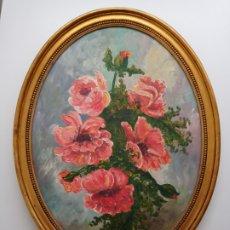 Arte: GRAN OLEO SOBRE TABLA OVALADA FIRMADO POR AMALIA AÑO 1978. Lote 254976740