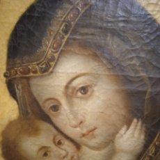 Arte: PINTURA RELIGIOSA CUADRO OLEO LIENZO SIGLO XVI/XVII VIRGEN DE BELEN. Lote 255455365