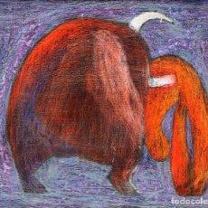 Arte: JOSE MUÑOZ LORENTE (1932-1988) TECNICA MIXTA SOBRE TABLA FECHADO EN ROMA DEL AÑO 1956. Lote 255526220