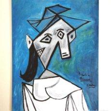 Arte: CUADRO, PINTURA CUBISTA, ASTRACTO, TRIBUTO A PICASSO, ÓLEO FIRMADO.. Lote 255598055