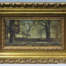 Arte: VISTA DE PAISAJE. OLEO S/ TABLA. RAMOS ARTAL (MADRID, 1855 – MADRID, CIRCA 1916). Lote 255627500