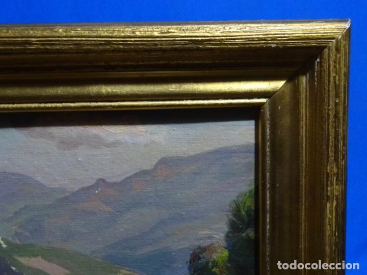 Arte: EXCELENTE ÓLEO SOBRE TABLEX DE TOMÀS VIVER AYMERICH. PINTOR DE TERRASSA. - Foto 14 - 255645945