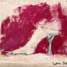 Arte: LYDIA DELGADO (SIGLO XX) TECNICA MIXTA Y OLEO SOBRE TELA. COMPOSICION CON ZAPATO. Lote 255917910
