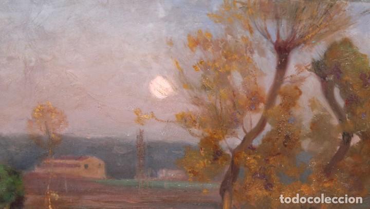 Arte: ENRIC GALWEY GARCÍA (1861-1931) OLEO SOBRE CARTON. PAISAJE TITULADO VALLS - Foto 5 - 255919685