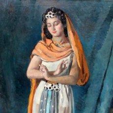 Arte: ALBERT RAFOLS CULLERÉS (BARCELONA, 1892 - 1986) OLEO SOBRE TELA. DANZA HINDU. 130 X 81 CM.. Lote 255923935
