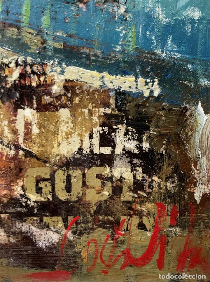Arte: JOSEP COSTA VILA - INTERIOR VERT - 20 X 50 CM. - Foto 6 - 255932095