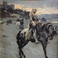 Arte: MARCELINO DE UNCETA (1835-1905) ÁRABE A CABALLO. Lote 255938100