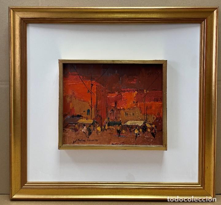 Arte: JOSEP MARIA MARTINEZ LOZANO - OLEO - VISTA DE UN MERCADO - 21 X 26 cm. - Foto 2 - 255939035