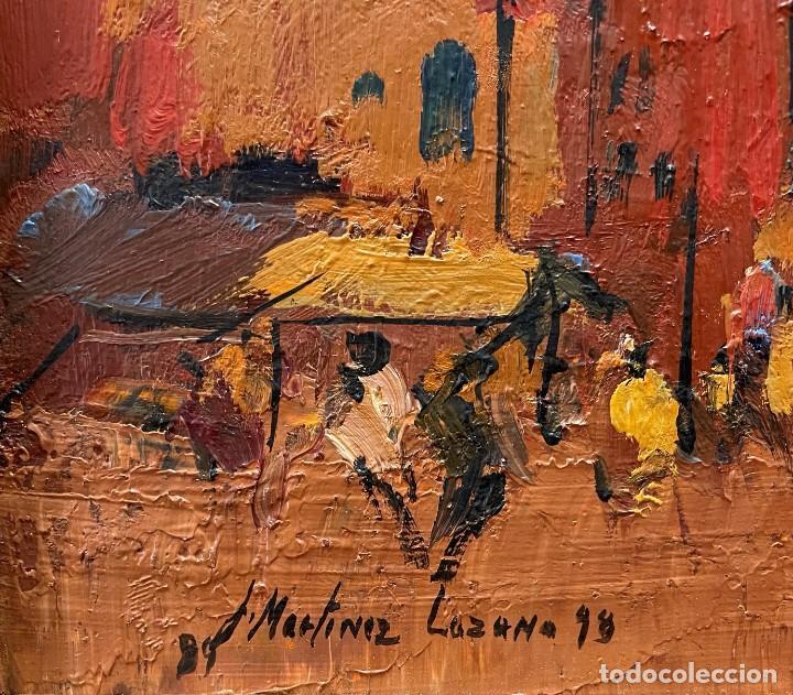 Arte: JOSEP MARIA MARTINEZ LOZANO - OLEO - VISTA DE UN MERCADO - 21 X 26 cm. - Foto 6 - 255939035