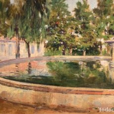 Arte: JOAQUÍN PALLARÉS ALLUSTANTE (1853-1935) JARDÍN. Lote 255940305