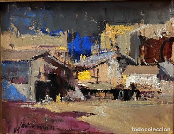JOSEP MARIA MARTINEZ LOZANO - OLEO - VISTA DE PUEBLO - 20 X 26 CM. (Arte - Pintura - Pintura al Óleo Contemporánea )