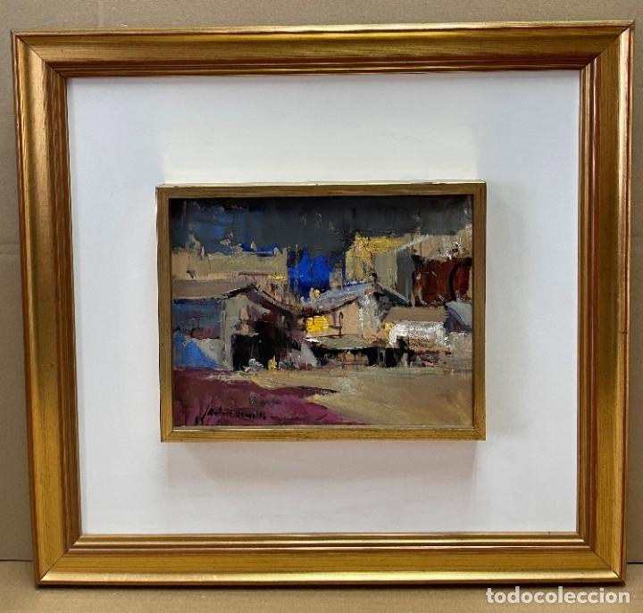 Arte: JOSEP MARIA MARTINEZ LOZANO - OLEO - VISTA DE PUEBLO - 20 X 26 cm. - Foto 2 - 255941305