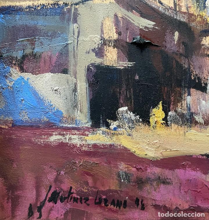 Arte: JOSEP MARIA MARTINEZ LOZANO - OLEO - VISTA DE PUEBLO - 20 X 26 cm. - Foto 5 - 255941305