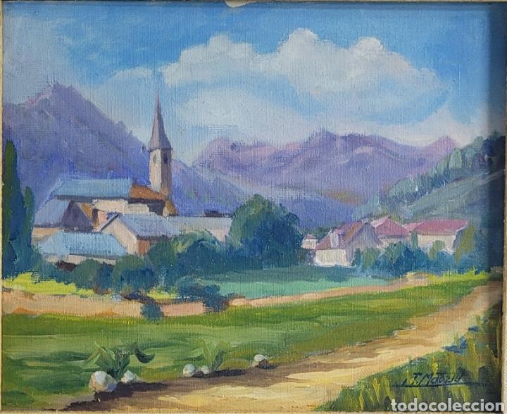 VALL DE ARÁN POR J. MAETZU 1984 (Arte - Pintura - Pintura al Óleo Contemporánea )
