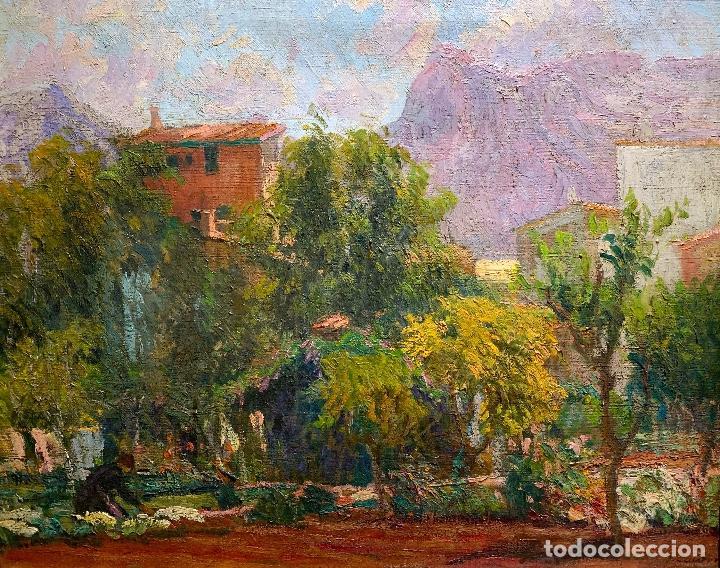 JOAN COLOM AGUSTÍ (1879-1869) JARDÍN - MALLORCA. ÓLEO SOBRE LIENZO (Arte - Pintura - Pintura al Óleo Moderna sin fecha definida)