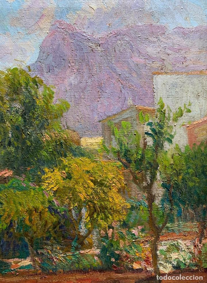 Arte: Joan Colom Agustí (1879-1869) Jardín - Mallorca. Óleo sobre lienzo - Foto 4 - 256017075