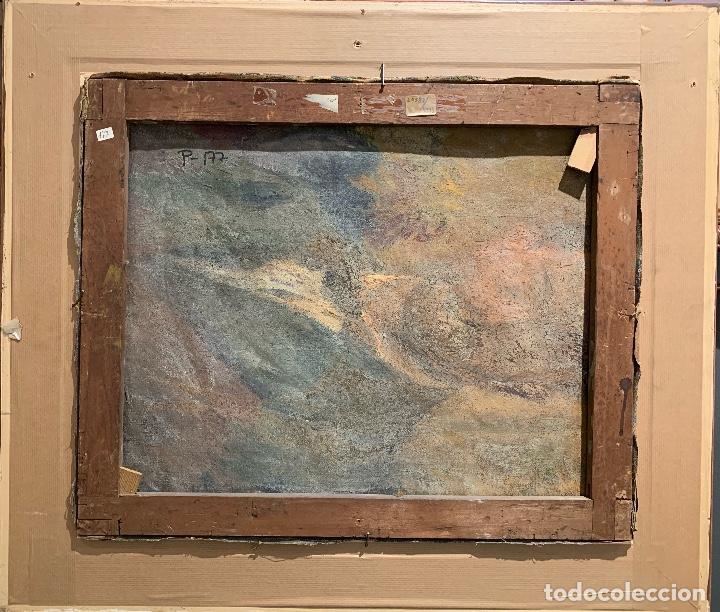 Arte: Joan Colom Agustí (1879-1869) Jardín - Mallorca. Óleo sobre lienzo - Foto 6 - 256017075