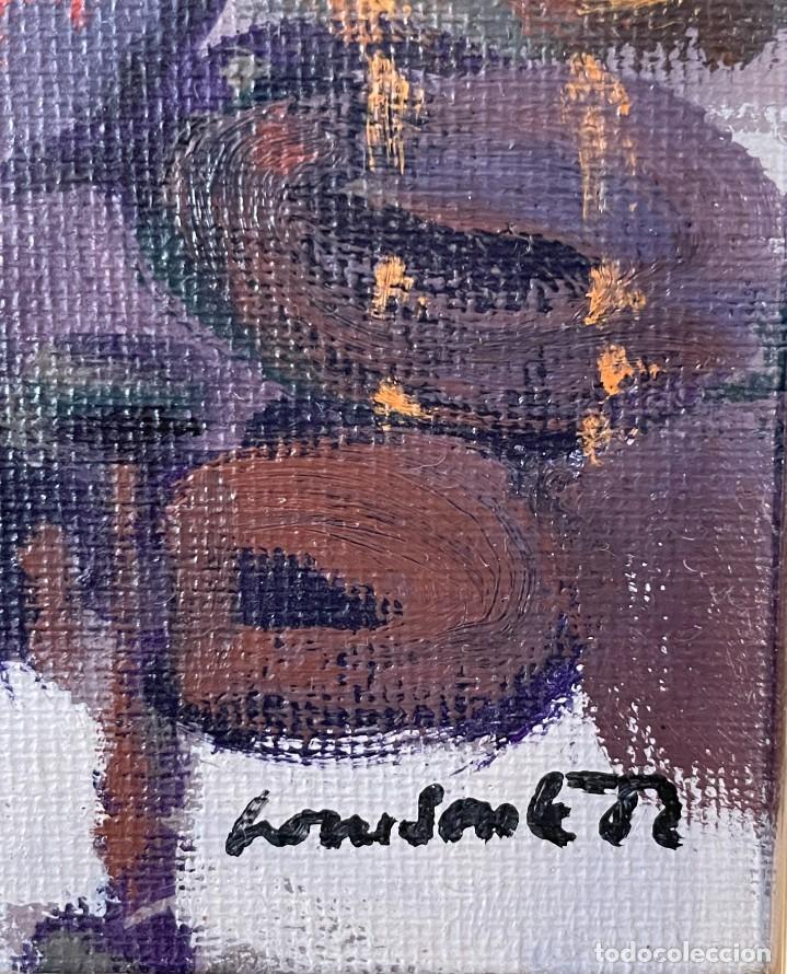 Arte: RAMÓN LOMBARTE: Barcelona 1956 - VENDEDORA DE LOS ENCANTES - OLEO LIENZO. - Foto 6 - 256148475