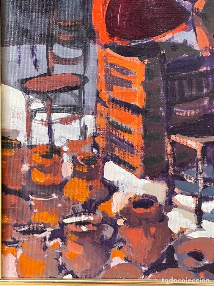 Arte: RAMÓN LOMBARTE: Barcelona 1956 - VENDEDORA DE LOS ENCANTES - OLEO LIENZO. - Foto 10 - 256148475