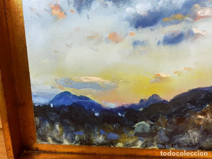 Arte: CUADRO oleo pintor desconocido 40 X 57 - Foto 5 - 256169995